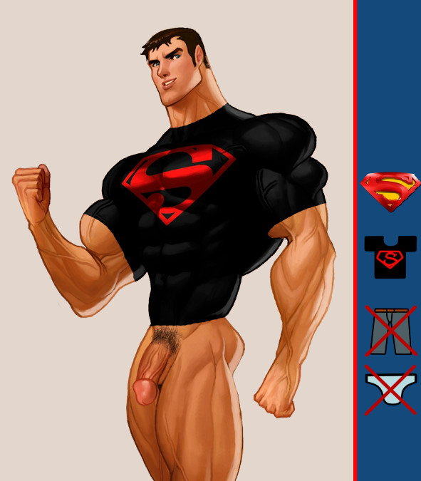 Undress a yaoi superman hero