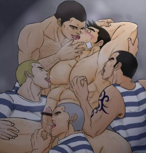 Bara Yaoi sailors have a sexy lusty orgy in this nice pic