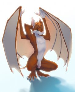 red foxy furry bat is ready for some hot action