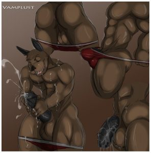 Some cummy action of this furry yaoi thing