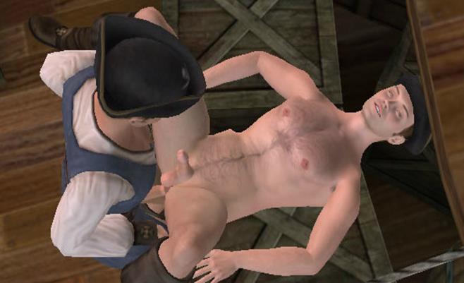 Gay pirates fuck on a ship sex game