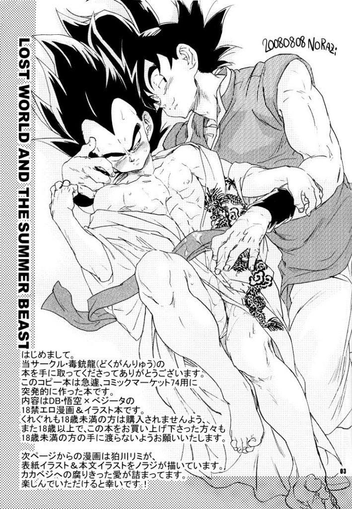 Hot and amazing Dragon Ball Z Yaoi doujinshi