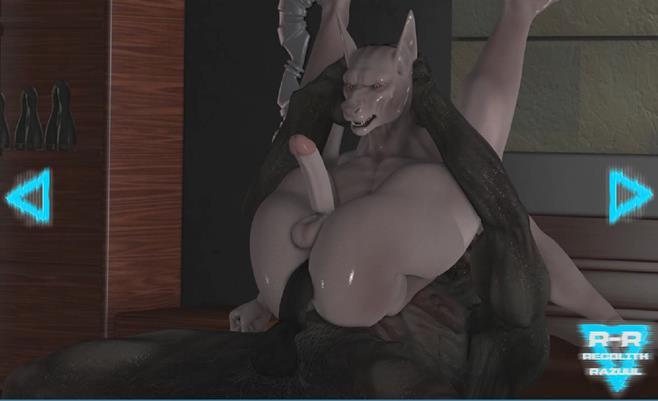 Werewolf fucks a demon animation